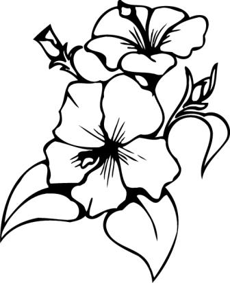 Картинка цветы черно-белая